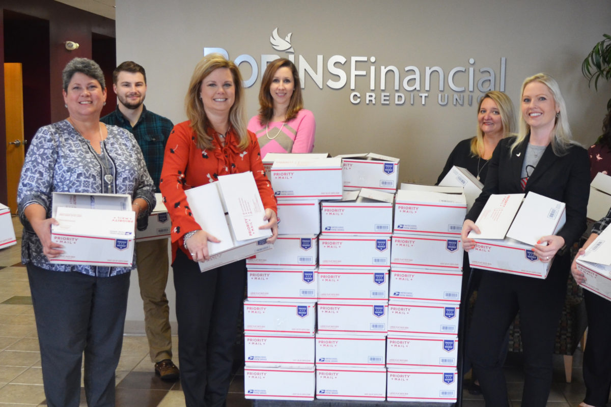 Robins Financial Credit Union sends holiday care packages to deployed troops