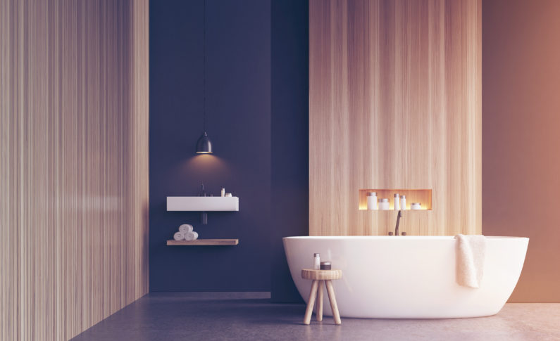 Take a bath. A hot bath not only heats your body, it also relaxes muscles and relieves stress.