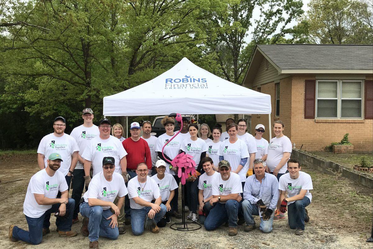Robins Financial volunteers revitalize Warner Robins home with Rebuilding Together