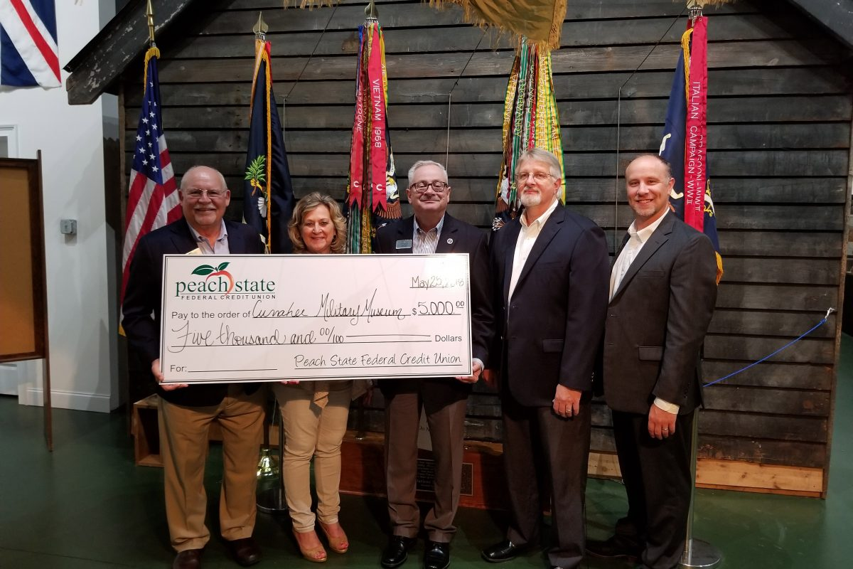 Peach State Federal Credit Union Donates $5,000 to Currahee Military Museum