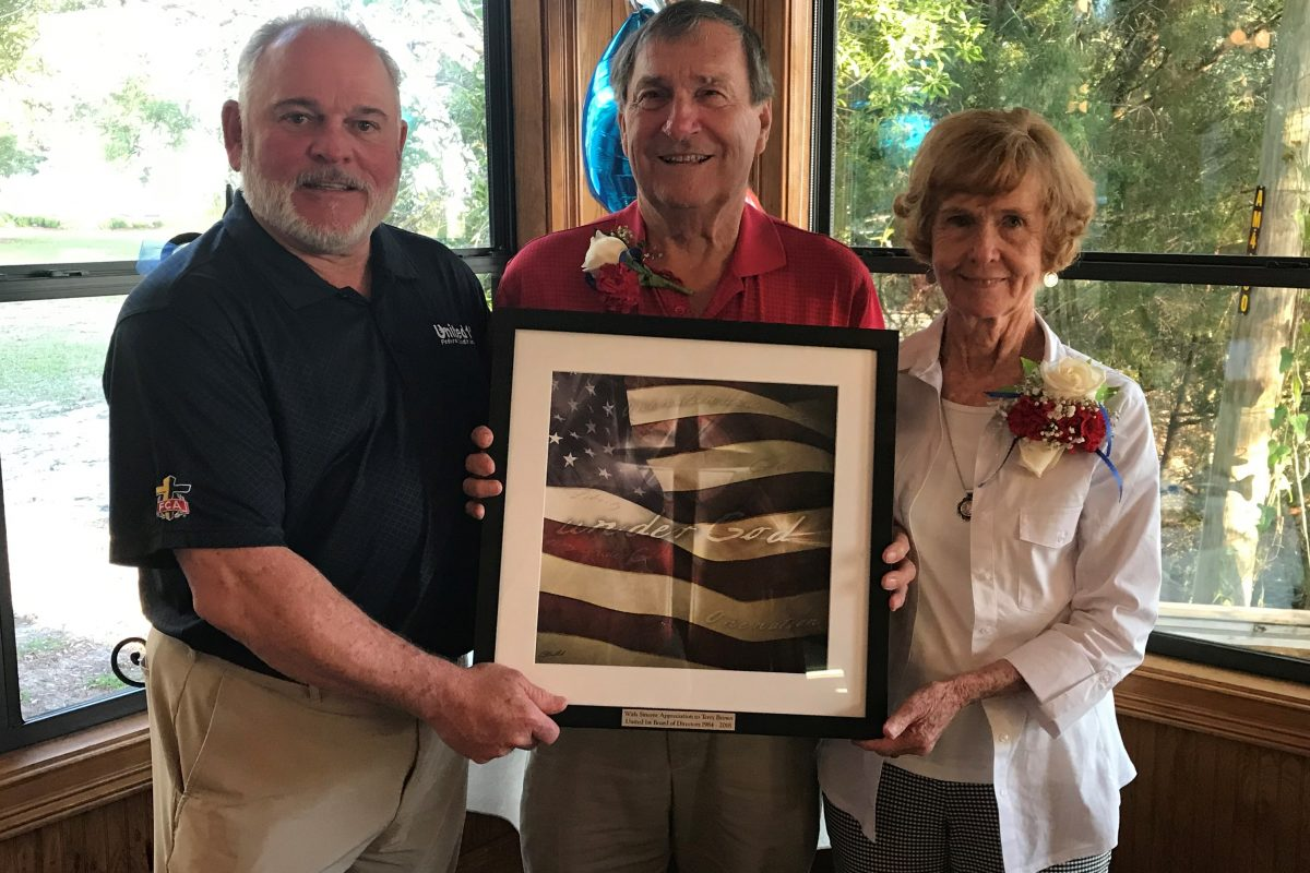 United 1st Federal Credit Union honors retiring board member Terry Brown