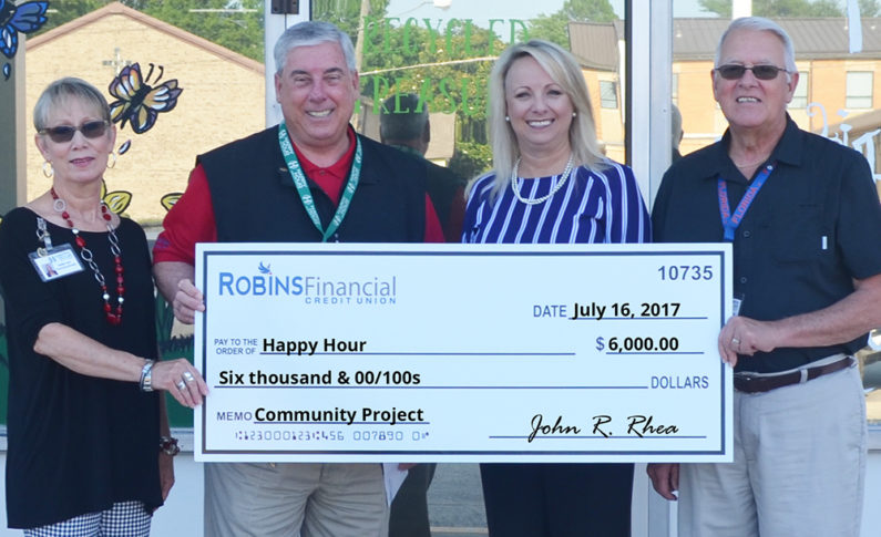 Happy Hour Service Center serves the developmentally disabled citizens in Houston County. Individuals are trained in daily living skills, communication skills, social skills and work adjustment skills. They received $6,000 to renovate their thrift store into a coffee shop.