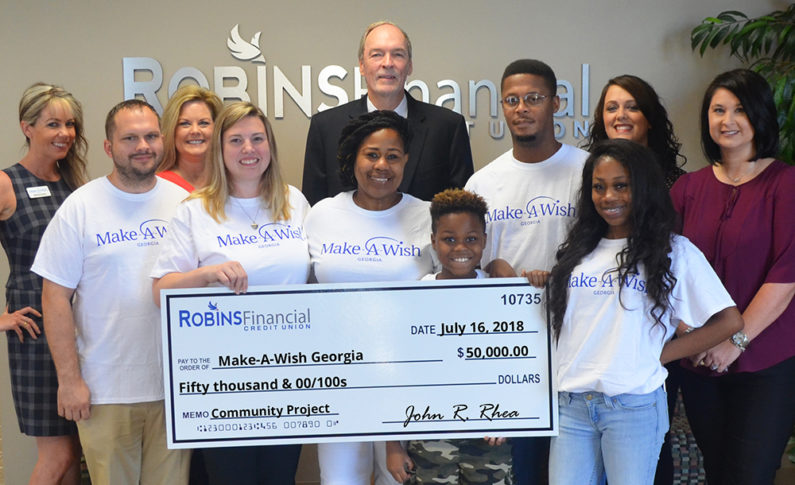 Make -A-Wish Georgia creates life-changing wishes for children facing critical illness. They received $50,000 to grant the wishes of five children in the middle Georgia area.