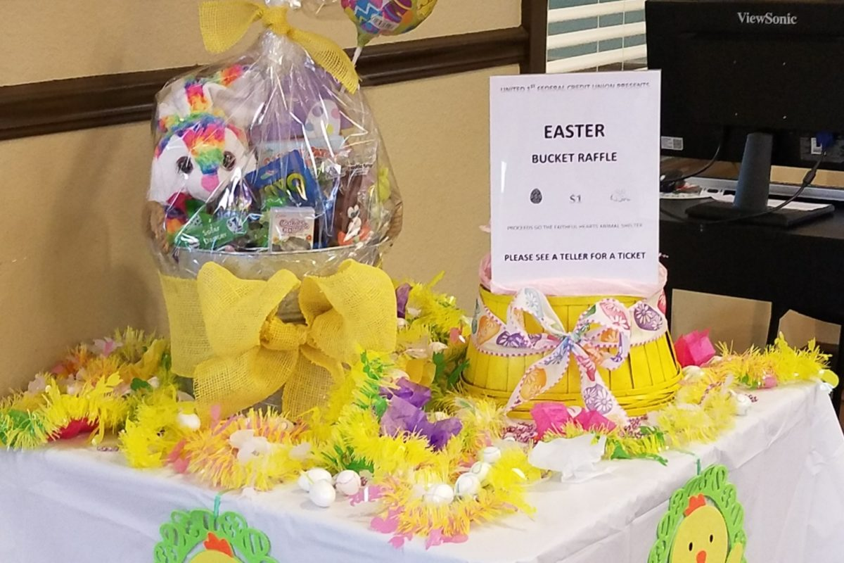 United 1st Federal Credit Union's Easter Basket Raffle supports local animal shelter