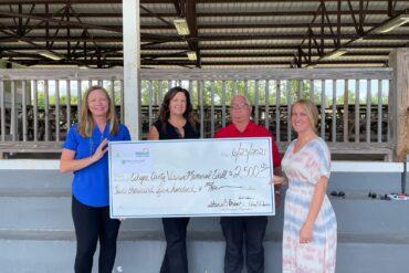 Wayne County Credit Unions Make Joint Donation to Rebuild Veterans Memorial