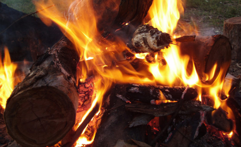 Build a fire. If you have a fireplace, utilize it. Whether it's wood burning, electric or gas, sitting by the fire brings ambiance and warmth.