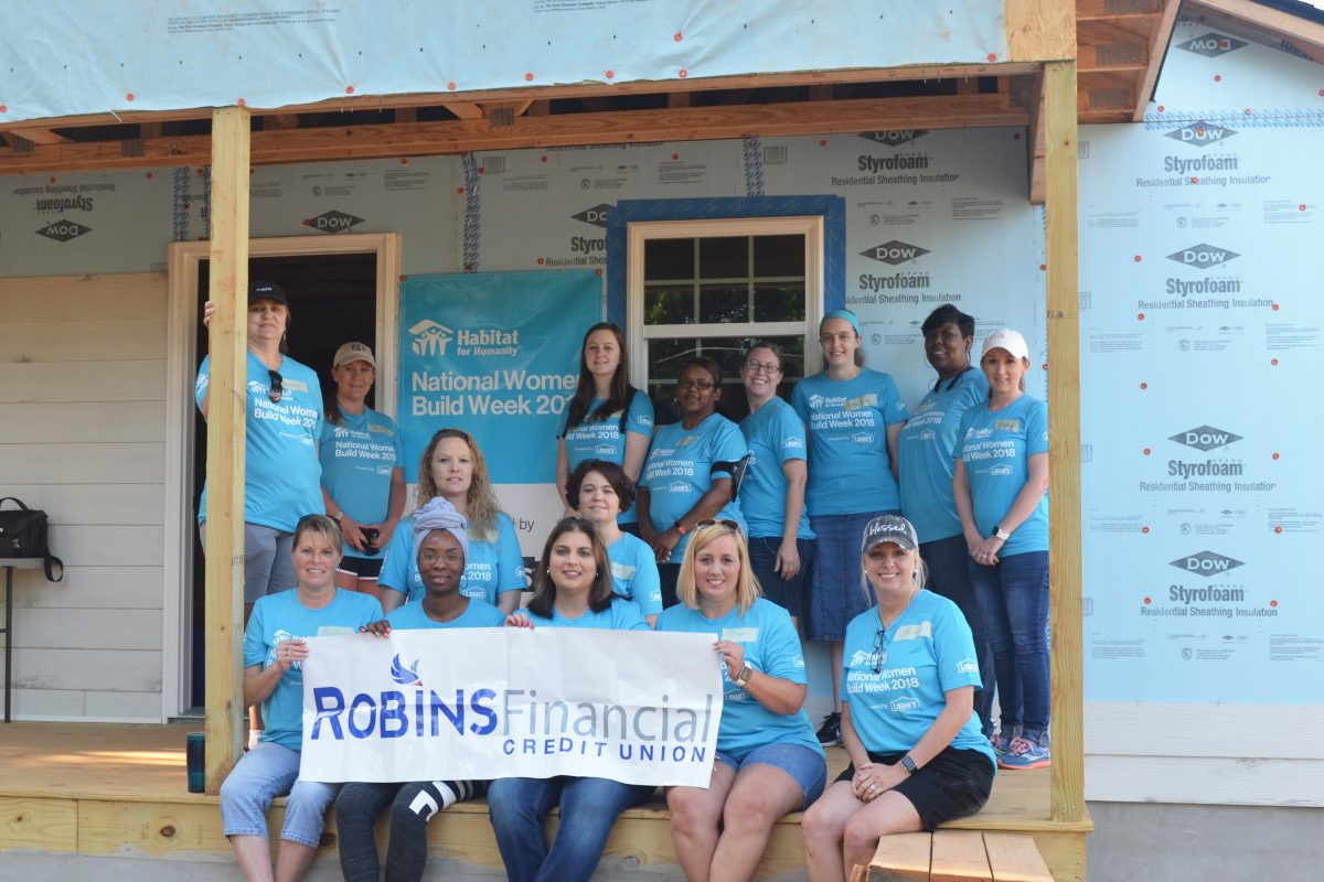 Robins Financial Credit Union donates time and money to Habitat for Humanity
