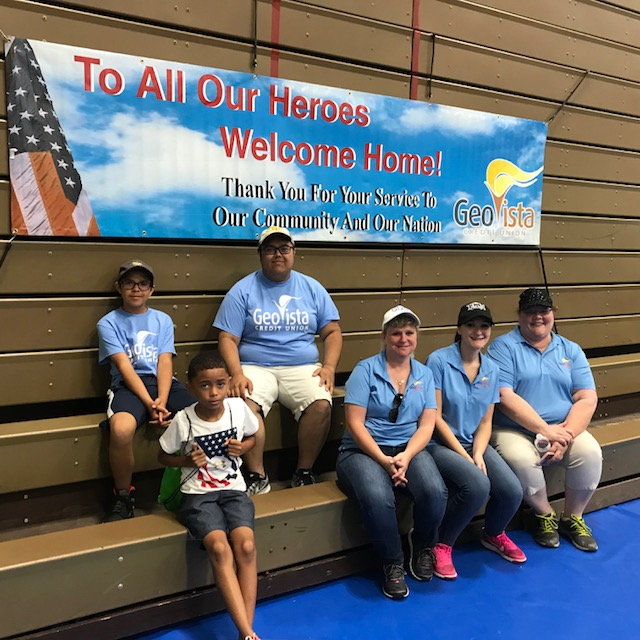 GeoVista Credit Union serves lunch to troops on July 4