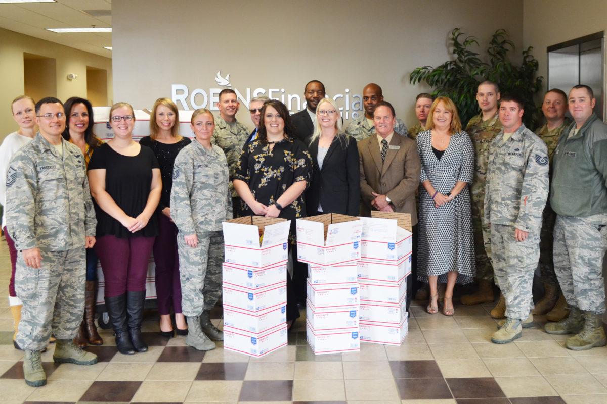 Robins Financial Credit Union collects care packages for troops