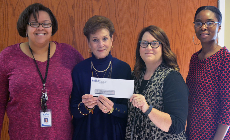 Macon Outreach in Macon received a $500 donation. This organization addresses the needs of those living in poerty by providing food and clothing assistance.