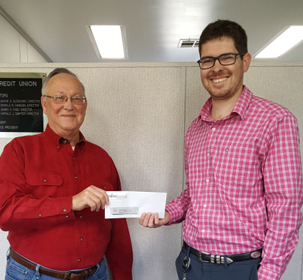 A food bank in McRae received a $500 donation. This organization helps to feed those in need in the community.